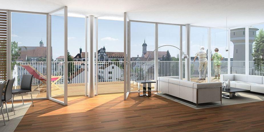 baie vitrée parquet bois